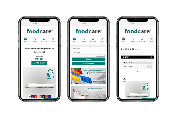 Foodcare's mobile ordering app