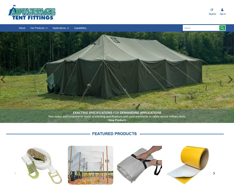 Tent Fittings Website